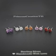 Excited to share the latest addition to my #etsy shop: 925 Sterling Silver CZ Stud Earring - Cubic Zirconia Stud Earrings - Small Stud Earrings - 4mm 5mm 6mm Stud- Round Cz Stud PCS13 http://etsy.me/2pi98DQ #jewelry #earrings #cubiczirconia #unisexadults #pushback #ear