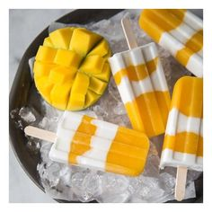 Coconut Mango Popsicles foodgawker ❤ liked on Polyvore featuring food