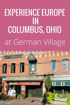 Ever spend a weekend in Columbus, Ohio, then you have to visit German Village. This National Register of Historic Places is by far one of the neatest places I have visited in a while.
