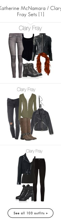 """Katherine McNamara / Clary Fray Sets [1]"" by demiwitch-of-mischief ❤ liked on Polyvore featuring H&M, Wolford, Junya Watanabe Comme des Garçons, Gianvito Rossi, McGuire, T By Alexander Wang, Sole Society, tarte, Paige Denim and Enza Costa"