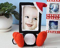 Crochet Pattern of Photo Frame SNAIL Tutorial PDF file