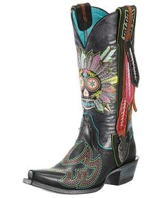 Ariat Gypsy Soule Indian Sugar Cowgirl Boots - I've never worn cowboy boots but I love the sugar skull