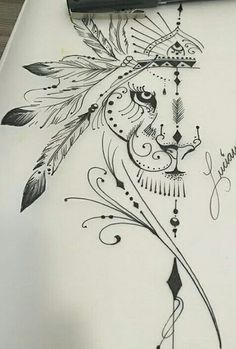 Tattoo Lion Design Leo Strength 40 Ideas For 2019 Leo Tattoos, Feather Tattoos, Future Tattoos, Flower Tattoos, Body Art Tattoos, Tatoos, Bow Tattoo Thigh, Arm Tattoo, Girls With Sleeve Tattoos
