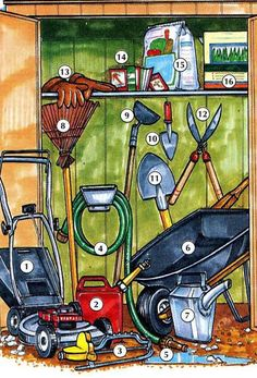 Eye-Opening Unique Ideas: Garden Tool Crafts Raised Beds garden tool shed home.Garden Tool Organization Cars garden tool storage how to build. Garden Tool Shed, Garden Tool Storage, Garden Hose, Dictionary For Kids, Picture Dictionary, Writing Pictures, Hidden Pictures, Grass Seed, Language Development