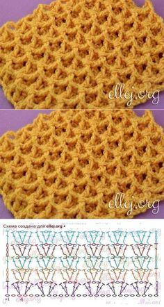 Crochet dishcloth pattern yarns 35 ideas Knitting For BeginnersKnitting HumorCrochet ProjectsCrochet Bag Crochet Stitches Chart, Crochet Diagram, Crochet Motif, Crochet Lace, Stitch Patterns, Knitting Patterns, Crochet Patterns, Waffle Stitch, Crochet Projects