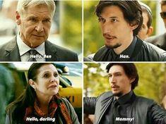Ben Solo is a total momma's boy