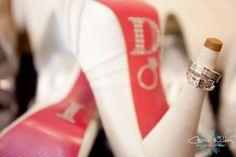 Jewel decorated wedding shoes