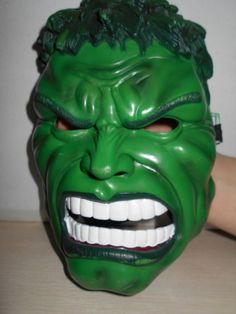 Incredible Hulk's Green Mean Face Halloween Costume Face Mask SIZE OSFM Adults…
