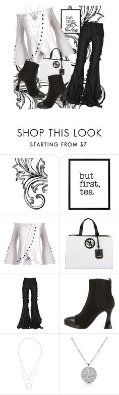 """""""Time 4 Crumpets II"""" by april-wilson-nolen ❤ liked on Polyvore featuring WALL, Caroline Constas, GUESS, Marco de Vincenzo, Chanel, Witchery and Anne Sisteron"""