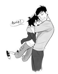 Hiro loves hugs, he just won't admit it