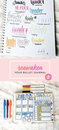 Reawaken Your Bullet Journal http://productiveandpretty.com/reawaken-your-bullet-journal/?utm_campaign=coschedule&utm_source=pinterest&utm_medium=Jennifer%20Grayeb&utm_content=Reawaken%20Your%20Bullet%20Journal