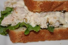 Caesar Chicken Salad Sandwiches! Perfect for a spring picnic! :)