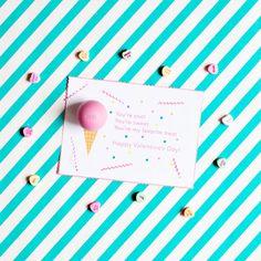 EOS Balm Ice Cream Valentine Printable