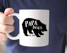 Grand Papa Bear Mug New Grandpa Mug Mug for by LeChicMonogram