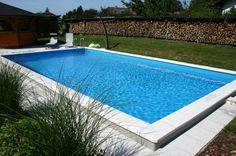 Styropor Schwimmbecken-Set rechteckig von Summer Fun inkl. Sandfilteranlage Lissabon, ca. 600 x 300 x 150 cm | Tiefbeckenleiter