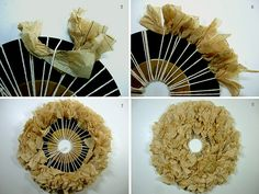 Tutorial: Wreath Vinyl Records and Pattern Paper by annekata, via Flickr