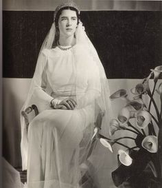 """Princess Elisabeth""""Woolly"""" of Greece + Denmark & Count Carl Theodor""""Toto"""" of Toerring-Jettenbach  {1934} [religious]"""