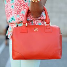 Robinson Satchel by Tory Burch.. Love the color