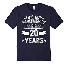 Mens 20th Wedding Anniversary Gifts 20 Year Shirt For Him 2XL Navy