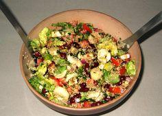Salade sud américaine, elle constitue un repas complet