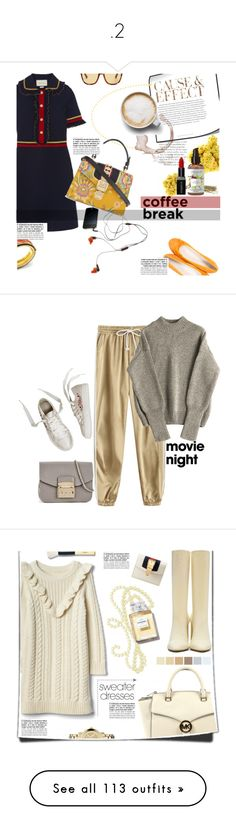 """"""".2"""" by dhdsysy ❤ liked on Polyvore featuring Envi:, Paolo Shoes, Gucci, Slater Zorn, Smashbox, Caffé, coffeebreak, Furla, movieNight and adidas Originals"""