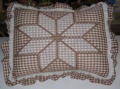 Chicken Scratch Star Pattern | Chicken Scratch Pillow Cover