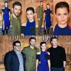 #EmmaWatson, #DanStevens, #LukeEvans, and #JoshGad kicked off the press tour for #BeautyAndTheBeast today in Paris! Emma's wearing #LouisVuitton • • • • • #EmmaWatson, #DanStevens, #LukeEvans e #JoshGad iniciaram a turnê de imprensa para #BeautyAndTheBeast hoje em Paris! Emma está vestindo #LouisVuitton
