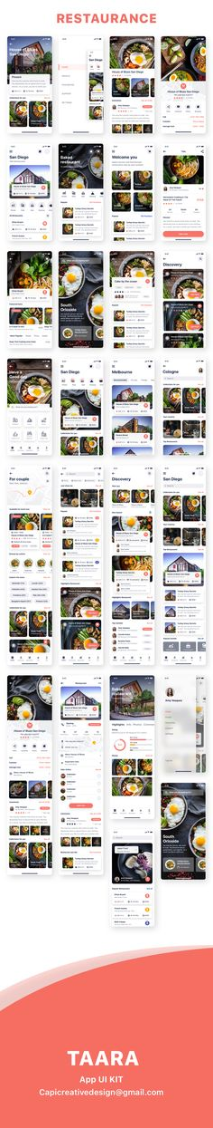 beautiful UI screens for some hottest categories, for example, e-bank e-wallet restaurant, etc. All components are vector-based and editable and well-organized. Mobile App Ui, Mobile App Design, Ui Ux Design, Tool Design, App Design Inspiration, Ui Kit, Mobile Application, Restaurant Design, Screens