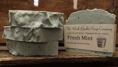 Fresh Mint soap...peppermint & spearmint essential oils