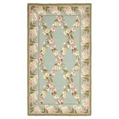 Safavieh Hand-hooked Wilton Teal/ Olive Wool Rug 9 x 9 ) Blue, Size x (New Zealand Wool, Floral) Dark Green Background, Persian Motifs, Rug Company, 4x6 Rugs, Online Home Decor Stores, Throw Rugs, Beige Area Rugs, Colorful Rugs, Rug Size
