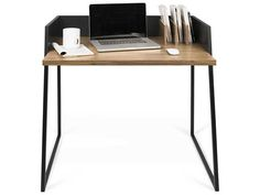 Ideal for small apartments or a childrens room, the Volga desk's reduced size still offers plenty of space to work with a any laptop or tablet. The Cool Republic, Office Computer Desk, Small Apartments, Office Furniture, Volga, Pure Products, Cool Stuff, Room, Design