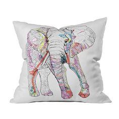 Elephant Throw Pillow - I really like this pillow.