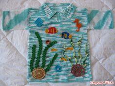"""Летние рубашки для мальчиков в технике """"Филе""""."""
