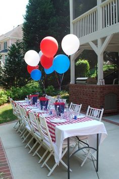 super cute red white and blue baseball party