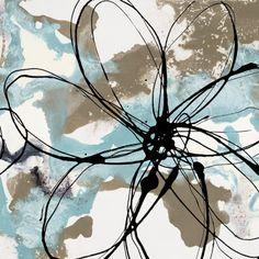 Fleurs bleues - Art Contemporain Tableaux sur AllPosters.fr