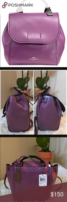 Coach Backpack 🎒 🎒Coach Backpack 🎒  💜Color: Midnight Mauve 💜 Adorable Coach Backpack Can be worn as 🎒or crossbody! Very versatile & a beautiful 💜color for Spring to add that 💥 of 🌈 to ur wardrobe  NWT Attached / Never worn A great 🎁 for urself ( U DESERVE IT 😉) or someone u 💜 Coach Bags Backpacks