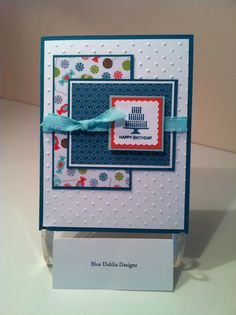 Helen Burnley - Blue Dahlia Designs. Totally fun. I might skip the ribbon and add something different.