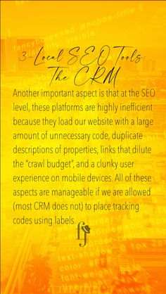 """The CRM are tools that permit realtors to organize the flow of leads and the way that properties are displayed. In this process, the lead is managed through the platform, which poses difficulties when designing a strategy of """"Lead Nurturing"""", a process that allows us to convert the marketing qualified lead (MQL) into sales qualified lead (SQL). #luxuryrealestate  #realty  #milliondollarlisting  #investment Lead Nurturing, The Crawl, Seo Tools, Local Seo, Seo Marketing, Read More, Flow, Budgeting, Organize"""