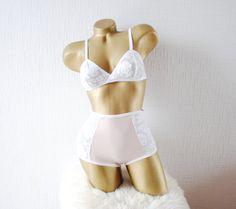 Pink lingerie set  Bridal lingerie set  Boho lingerie set