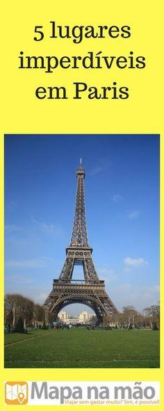 Paris é linda demais e tem uma infinidade de pontos turístico e lugares maravilhosos. Aqui, mostramos a você 5 lugares imperdíveis para se visitar.