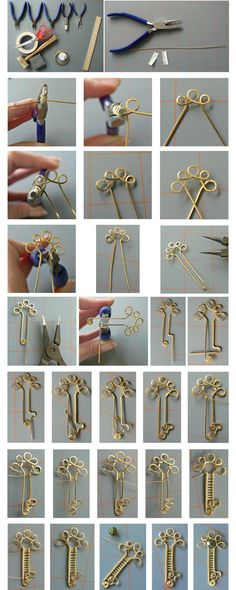 Simple Wire Key Tutorial (photos only) by magpie-poet on deviantART