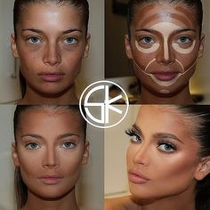 Conturing is the most important part of your make-up! Because hide some your bad parts, like a concealer and putting an accent on your face shapes. I hope this will help you on your next make-up! Face Contouring, Contour Makeup, Contouring And Highlighting, Contour Face, Cream Contour, Makeup Tips, Beauty Makeup, Eye Makeup, Doll Makeup