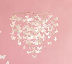 Michelle Brunner: Butterfly Mobile/Chandelier for Nursery