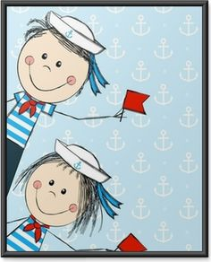 Nautical Photo Booth, Scandinavian Kids Rooms, Sailor Costumes, Class Decoration, Funny Kids, Fourth Of July, Wall Murals, Watercolor, Journals