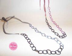Tia Keko collar LAZO. un doble color y un lazo y obtenemos un bonito collar largo