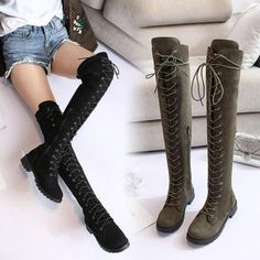 $45.59 | High Quality Women Shoes Woman Boots Over the Knee Boots Fashion Flat Shoes 2019 Autumn New Comfortable Fashion Casual Boots X18 Outfit Accessories FromTouchy Style | Free International Shipping. Mens Shoes Boots, Lace Up Boots, Shoe Boots, Comfortable Dress Shoes For Women, Comfortable Fashion, Fashion Sandals, Fashion Boots, Casual Boots, Women's Casual