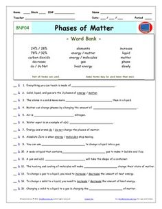 Bill Nye Water Cycle Video Guide Sheet | Bill nye, Worksheets and ...