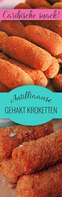Antilliaanse kroketten - écht even wat anders dan de Nederlandse! Gemaakt met gehakt, groenten en (eventueel) hete peper. Lees meer op onze website.