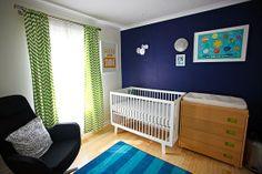 Curtains example - Wonderfully Domestic: Design Plan - Baby Boy Nursery