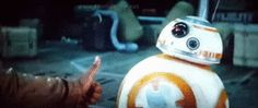 BB-8: thumbs up or middle finger? - GIF on Imgur